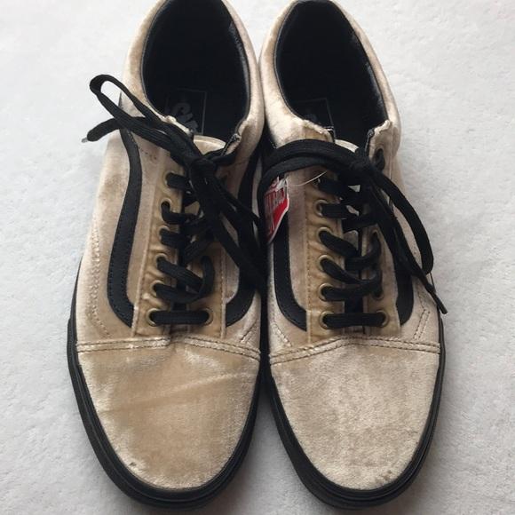 e37bb5c625 Vans Old Skool Velvet Tan Black men s shoes 9.5
